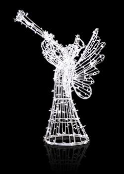 Anioł mały grający na trąbce AFT-150-FL