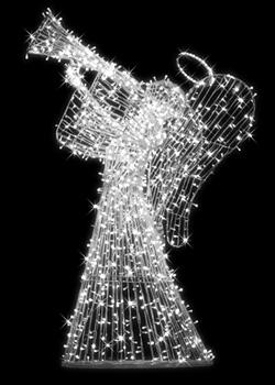 Anioł świetlny grający na trąbce AST-250-W